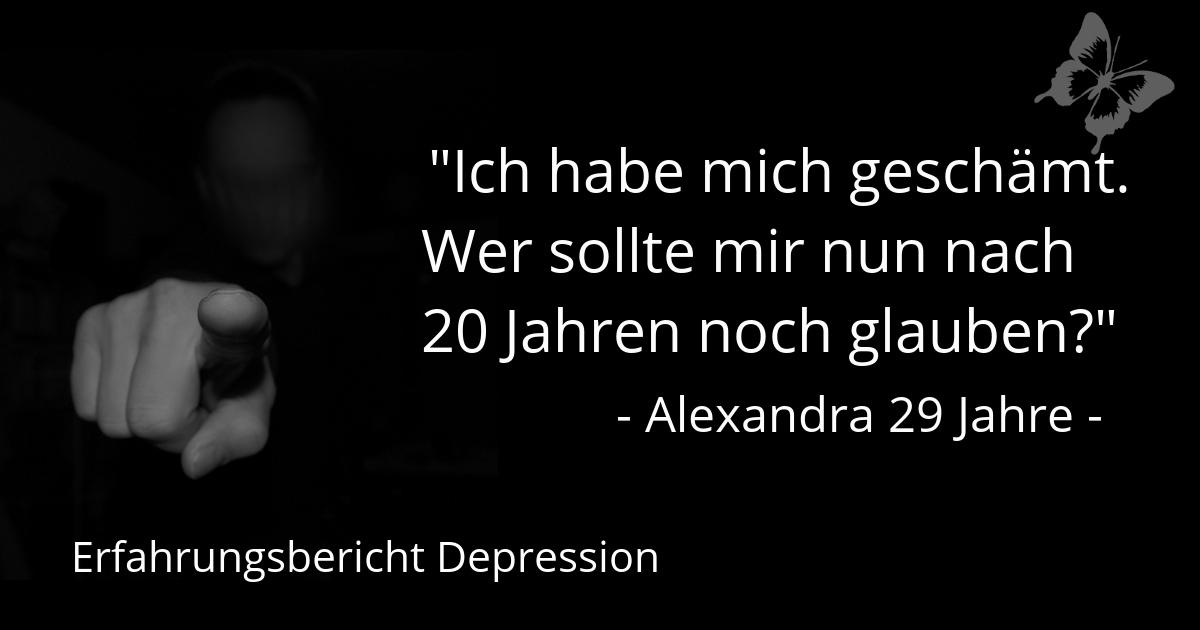 Alexandra schämt sich wegen Depressionen