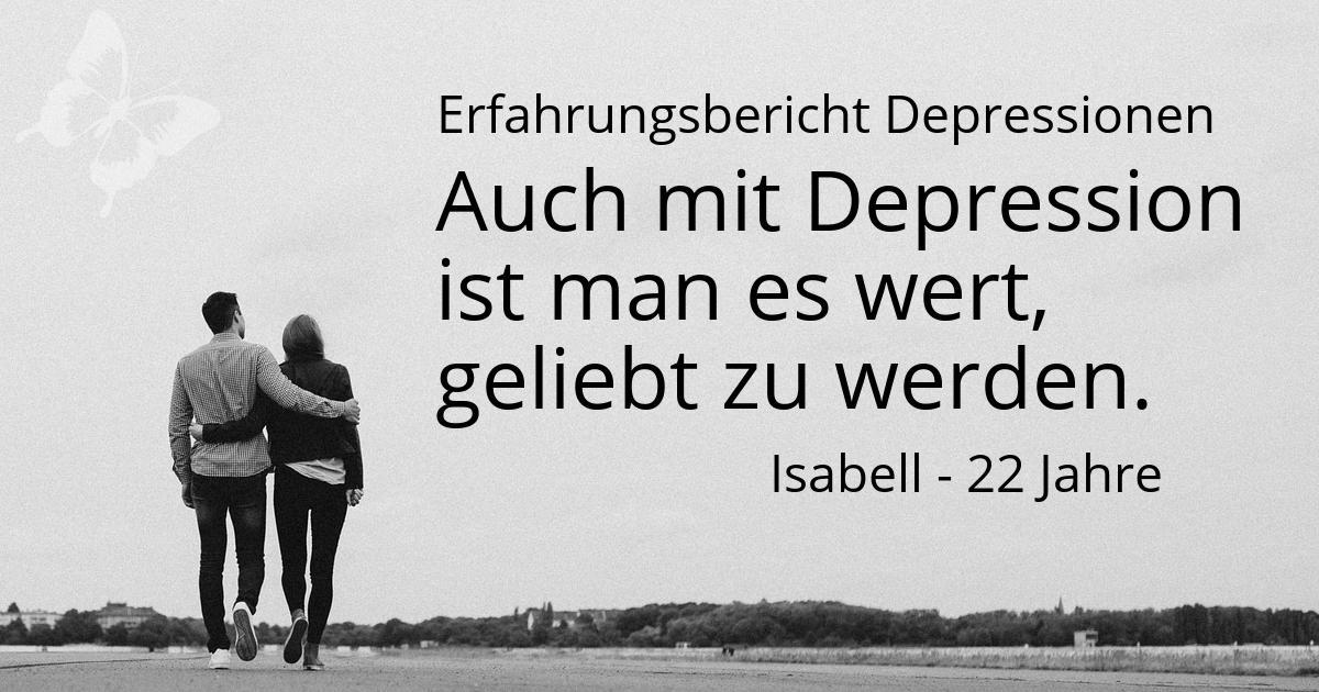 Depression Wert geliebt zu werden