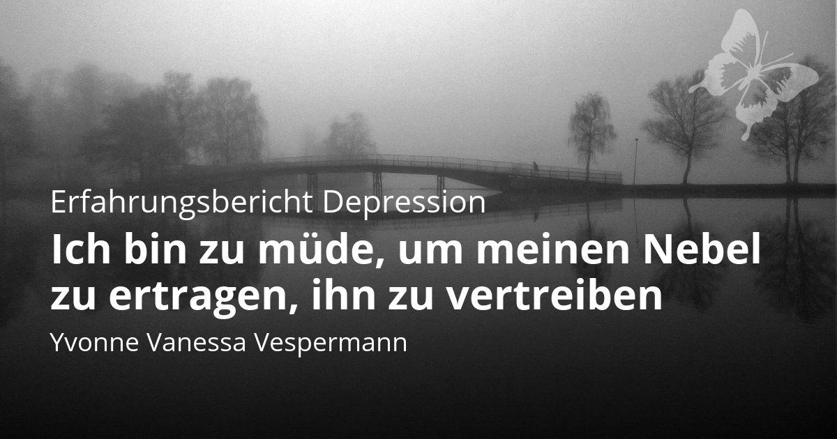 Titelbild und Zitat Vespermann literarischer Erfharungsbericht Depression