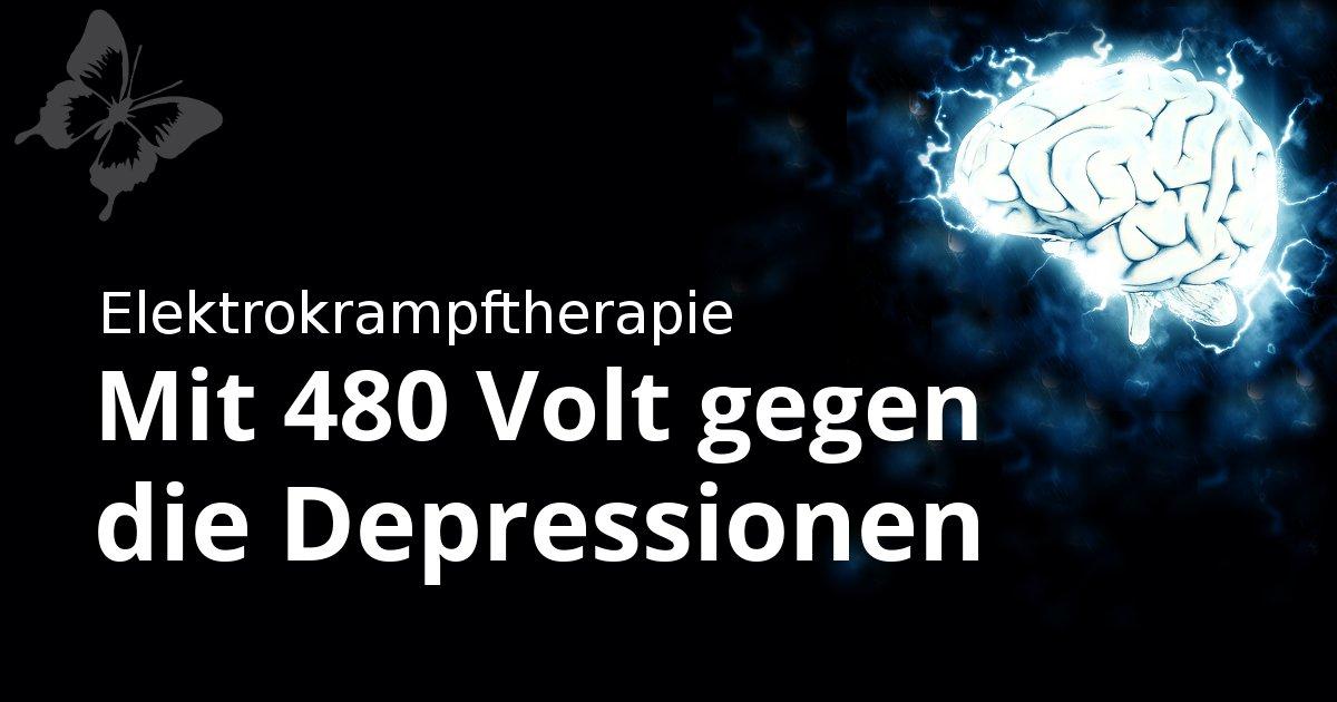 Elektrokrampftherapie - Elektroschocks bei Depressionen