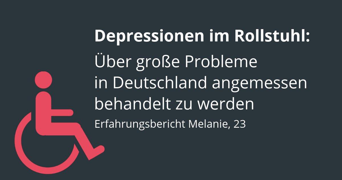 Depressionen Rollstuhlfahrer Erfahrungen