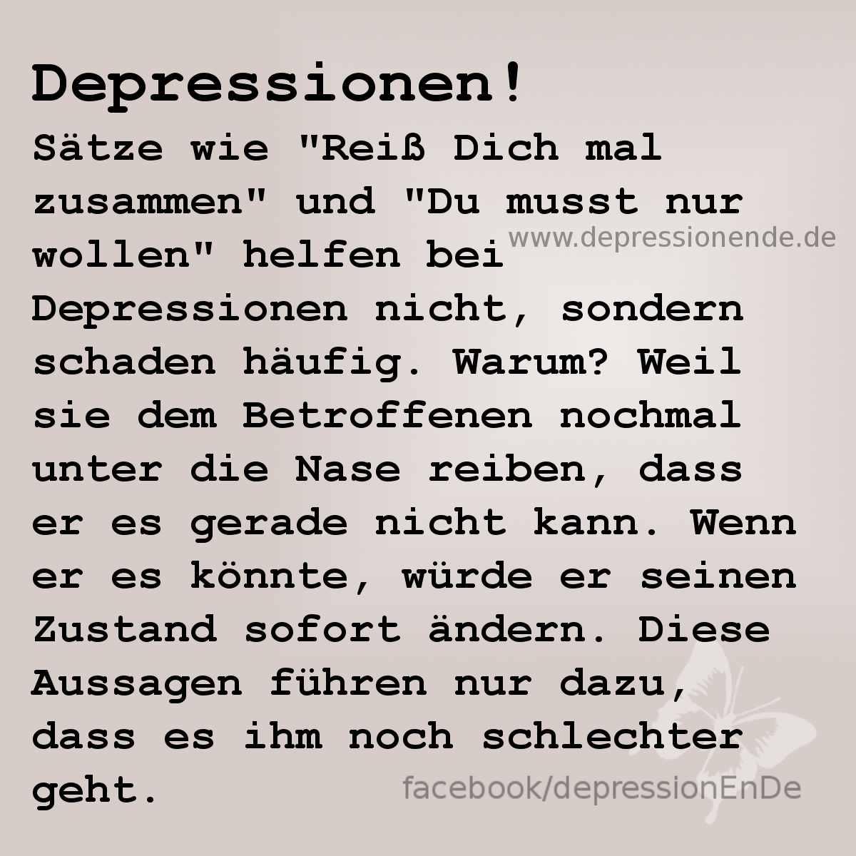 Depressionen! Sätze wie